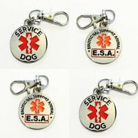 Service Dog Emotional Support Animal ESA Collar Tag Two Sided ALL ACCESS CANINE™