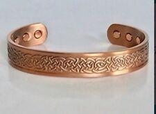 Celtic Knot Ireland St. Patrick's Day Magnetic Solid Copper Bracelet Cuff Irish