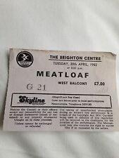 Meat Loaf Neverland Express RARE Concert Ticket Stub