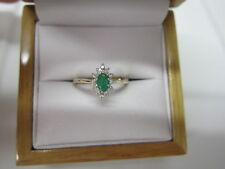 BEAUTIFUL ESTATE 14 KT GOLD EMERALD AND DIAMOND RING !!!!!!!!!!