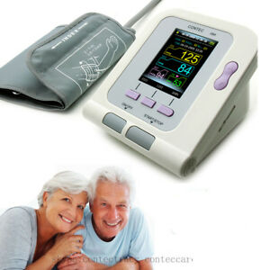 Color Automatic arm Blood Pressure Monitor BP Cuff Heart Rate Tester Meter,SW,CE
