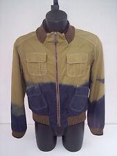 GIUBBINO ,roberto cavalli, cotone beige e blue marrone ,tg 50