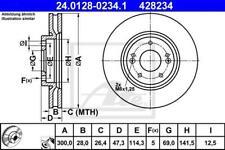 1X BRAKE DISC ATE - TEVES 24.0128-0234.1