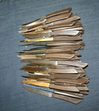 Ekco Wood Grain Finish Brown Plastic 55x Steak Knives Vguc Stainless Steel Usa