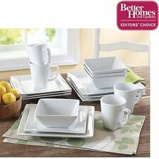 Better Homes and Gardens Square 16 Piece Porcelain Dinner W