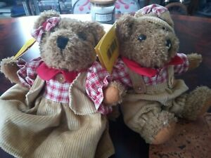 Vintage German Two boy and girl Sunkid Bears