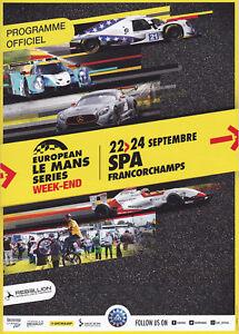 Programm European Le Mans Series Spa Francorchamps 2017 ELMS