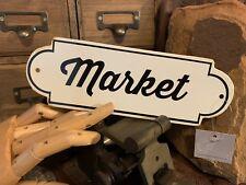 Vintage Like Enamel Porcelain Tin Sign Market Wall Decor New