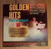 Patti Page ‎– Golden Hits Vinyl LP Compilation 33rpm 1960 Mercury ‎– MG 20495