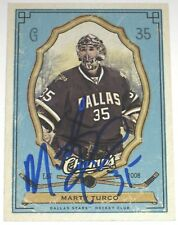 MARTY TURCO SIGNED 09-10 UPPER DECK CHAMPS DALLAS STARS CARD AUTOGRAPH AUTO!!