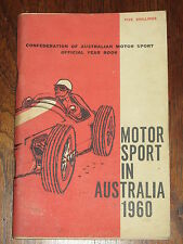 MOTOR SPORT AUSTRALIA 1960, CIRCUITS event calendar AGP trials CLUBS, FREE POST