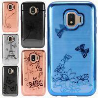 For Samsung Galaxy J2 Core Brushed Chrome TPU Gel Hard Skin Case Phone Cover