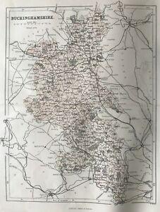 1868 Antique Map; Buckinghamshire - William Hughes