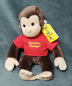 "VINTAGE 2001 Curious George 10"" Soft Stuffed Plush Monkey Kohl's Cares GUND"