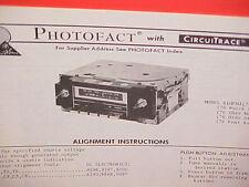 1976 BUICK CHEVROLET OLDSMOBILE  PONTIAC AM/FM MPX RADIO SERVICE MANUAL 61HFM3