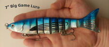 """Multi Jointed 7"""" Lure Swimbait, Blue Foil Colored"""