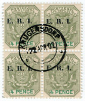 (I.B) Transvaal Postal : ERI Overprint 4d