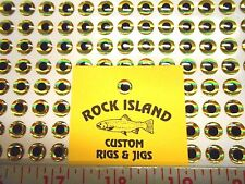 ROCK ISLAND SPORTS LURE EYES 8 mm GOLD 3-D EYES 200 CT 10 OR MORE = FREE SHIP