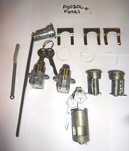 Ignition/Door/trunk/console/Glove Lock Set 1969 B-Body Charger GTX Mopar NOS KEY