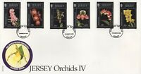 JERSEY ORCHIDS IV 1999 FIRST DAY COVER FDC - NO ADDRESS