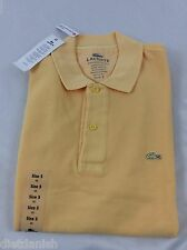 Lacoste Men's Polo Shirt Brand New with Tags Yellow Foin Size EU 3 US XS
