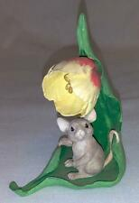 Charming Tails Spring Yellow Flower Figurine Mouse - Dean Griff Silvestri