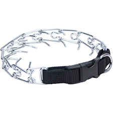 Easy-On Dog Prong Training Collar with Buckle,18-Inches Girth