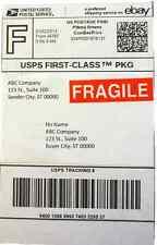 "FRAGILE Sticker Label, 0.59"" x 2.16"" 1000 pcs Roll Custom fits Paypal/Ebay Label"