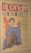 Blonde Redhead FANTASTIC 23inch 1999 LIVE CONCERT COLOR GIG POSTER Very Cool!