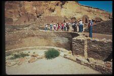 089080 Pueblo Bonito Kiva With Visitors A4 Photo Print