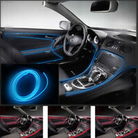 2M Car Blue LED Wire Cold Lights Strip Glow Auto Lamp Interior Atmosphere Acces