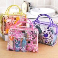 Clear Transparent Flower Plastic PVC Travel Makeup Cosmetic Toiletry Bag Pouch
