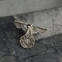 WW2 GERMAN EAGLE IRON CROSS CAP PIN BADGE