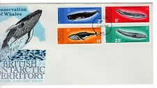 1977 BRITISH ANTARCTIC TERRITORIES Conservation of Whales FDC - unaddressed