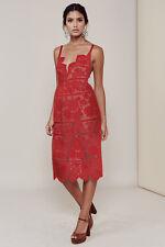 For Love & Lemons Gianna Midi robe en rouge dentelle taille S neuf sans étiquette
