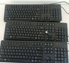 Lot 20 Genuine Dell KB212-B USB Keyboard 04G481 Black Wired Slim Lightweight