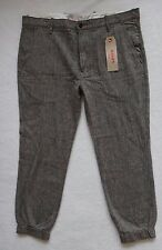 Levi's Chino Jogger Pants Men's Black Chambray Stretch Elastic Cuff Size 38x27
