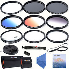 62mm Lens Filter Set SUPER Slim UV CPL Graduated ND4 Close-up+4 +10 6 Point Star