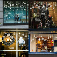 Winter Xmas Decorations Snowflake Merry Christmas Window Clings Wall Stickers
