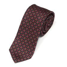 POLO RALPH LAUREN Black Red Beige Twinkling Diamond Men's Silk Skinny Neck Tie