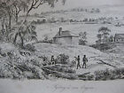 1834 Voyage autour du monde de M. d'Urville 4 gravures double feuille Sydney