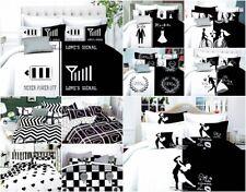 4 tlg Bettwäsche 155X200 200X220 Kissenbezüge Garnitur 3D Ehebett Weiß Schwarz