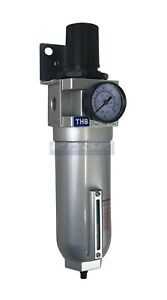 "HIGH FLOW INDUSTRIAL GRADE FILTER REGULATOR COMBO FOR COMPRESSED AIR, 1"" NPT"