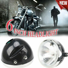 """35W 6"""" Old school Motorcycle Headlight Grill Cover High Low Beam Headlamp Retro"""