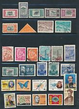 Bolivia **30 DIFFERENT AIRMAILS 1950-1970's**; MH & USED; CLEAN & SOUND