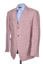 ERMENEGILDO ZEGNA Burgundy Patch Pocket LINEN Blazer Sport Coat - NEW - 40 R