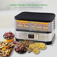 5 Tiers Electric Food Dehydrator Machine Beef Jerky,Fruits,Vegetables Dryer USA