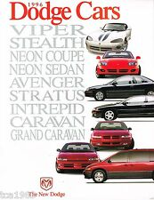1996 Dodge VIPER/STEALTH/INTREPID/STRATUS/AVENGER/GRAND CARAVAN/NEON Brochure