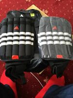 ADIDAS Shin Guards ankle pads with carry case XL Evertomic  FREE P&P mams