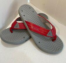 SIZE 7 - NWT Men's Columbia Vent Cush Flip Flops RED and GREY Sandals (MEN)